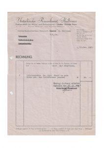 Rechnung 1939